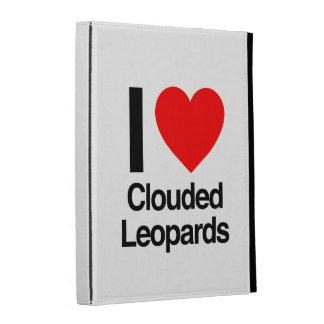 i love clouded leopards iPad folio cases