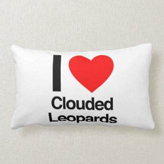 i love clouded leopards throw cushions