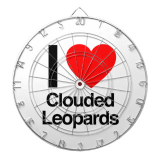 i love clouded leopards dartboard with darts
