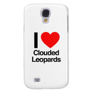 i love clouded leopards galaxy s4 case