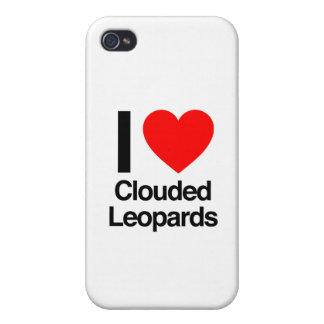 i love clouded leopards iPhone 4/4S cases