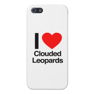 i love clouded leopards iPhone 5/5S covers