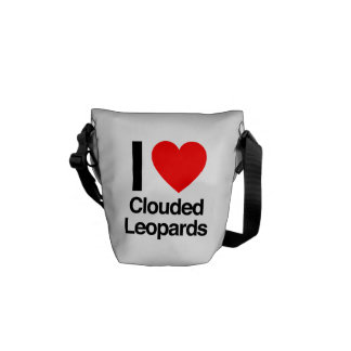 i love clouded leopards courier bags