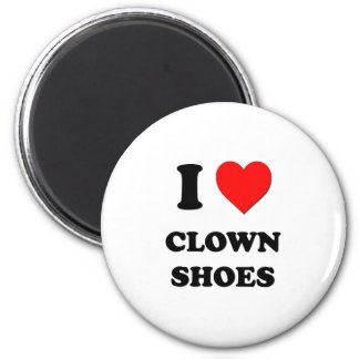 I love Clown Shoes 6 Cm Round Magnet