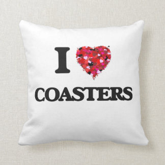I Love Coasters Throw Cushion