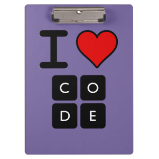 I Love Code Clipboards