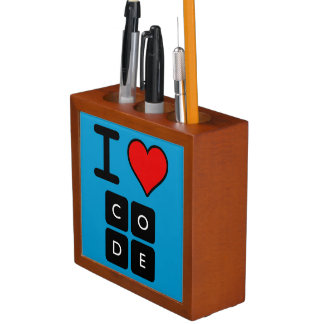 I Love Code Pencil Holder
