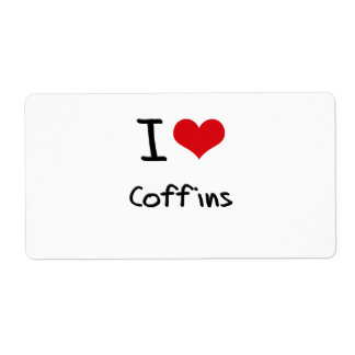 I love Coffins Shipping Label