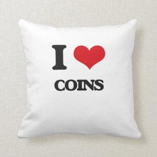 I Love Coins Pillow