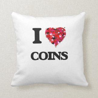 I Love Coins Cushion