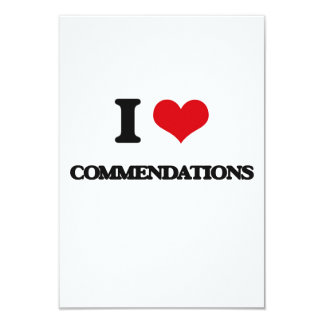 "I love Commendations 3.5"" X 5"" Invitation Card"