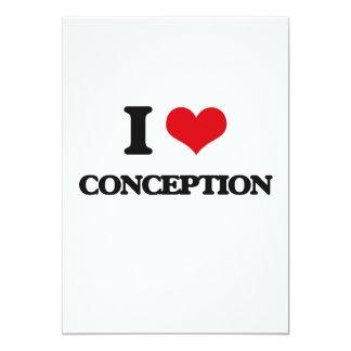 I love Conception 13 Cm X 18 Cm Invitation Card