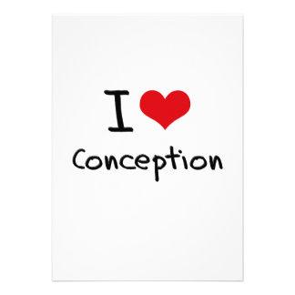 I love Conception Invitations