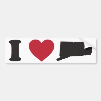 I love Connecticut Bumper Sticker