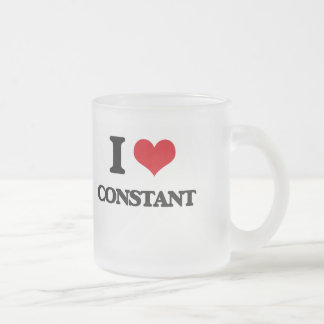 I love Constant Frosted Glass Mug