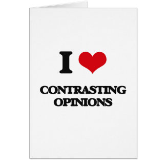 I love Contrasting Opinions Cards