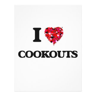 I love Cookouts 21.5 Cm X 28 Cm Flyer