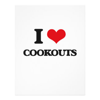 I love Cookouts Full Color Flyer