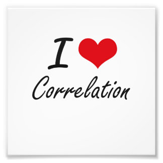 I love Correlation Photograph