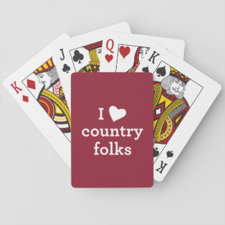 I Love Country Folks Playing Cards