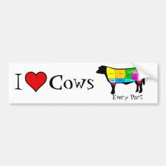 I love cows . . . Every Part Bumper Sticker