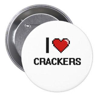 I Love Crackers 7.5 Cm Round Badge