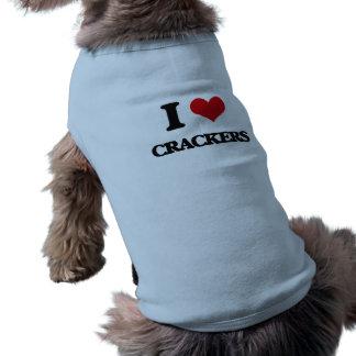 I Love Crackers Doggie Tshirt