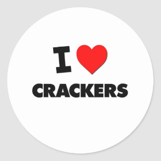 I Love Crackers ( Food ) Sticker