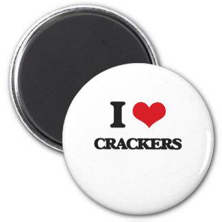 I Love Crackers Fridge Magnets