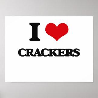I Love Crackers Print