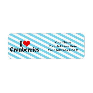 I Love Cranberries Return Address Label