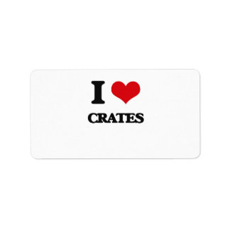 I love Crates Address Label