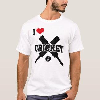 I Love Cricket, Crossed bats and ball, Cricket T-Shirt