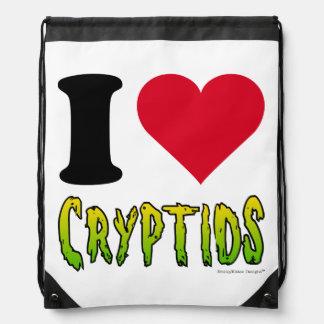 I Love Cryptids Drawstring Bag