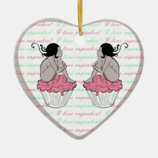 I love cupcakes christmas ornament