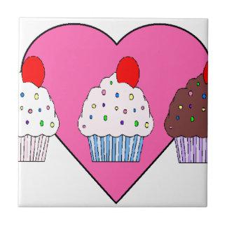 I love Cupcakes Small Square Tile