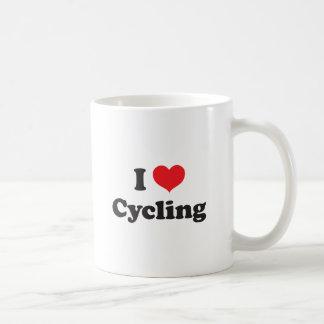 I love cycling basic white mug