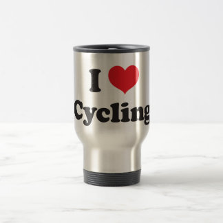 I love cycling stainless steel travel mug