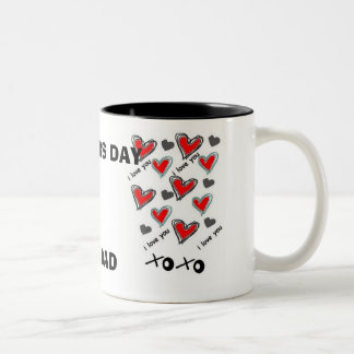 I LOVE DAD, HAPPY FATHER'S DAY MUGS