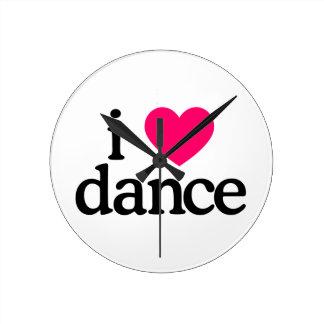 I Love Dance Round Clock