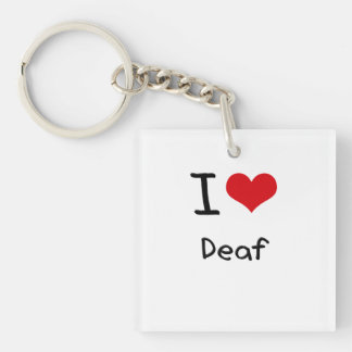 I Love Deaf Acrylic Key Chains