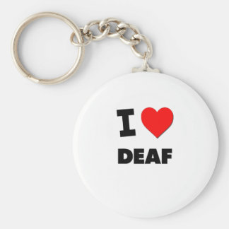 I Love Deaf Key Chains