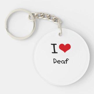 I Love Deaf Acrylic Keychain
