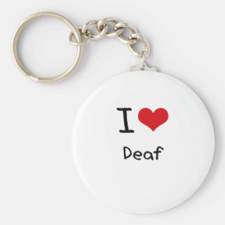 I Love Deaf Keychains