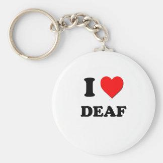 I Love Deaf Key Chain