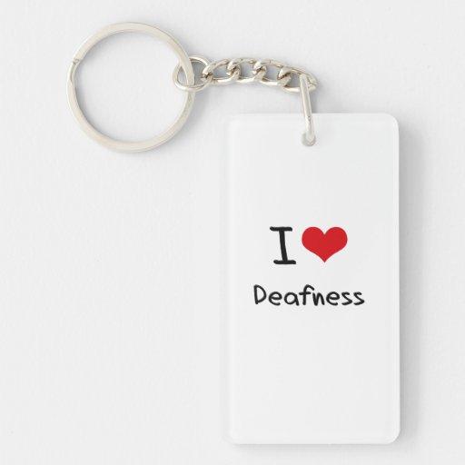 I Love Deafness Acrylic Keychains