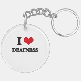 I love Deafness Key Chains