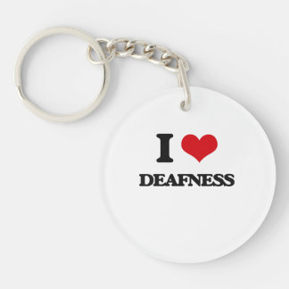 I love Deafness Single-Sided Round Acrylic Key Ring