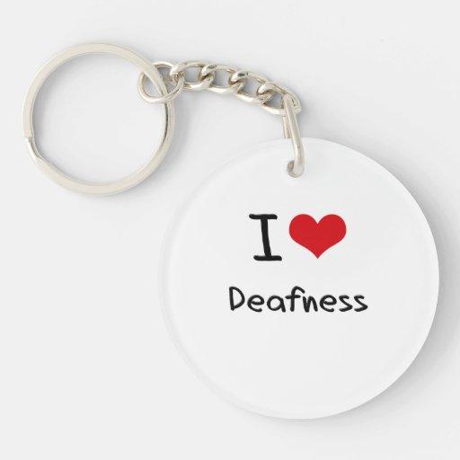 I Love Deafness Acrylic Key Chain