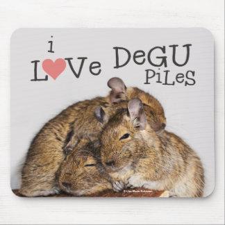 I Love Degu Piles Mouse Pad